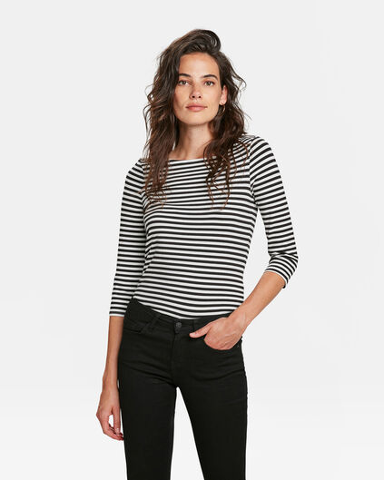DAMES STRIPED SHIRT Zwart