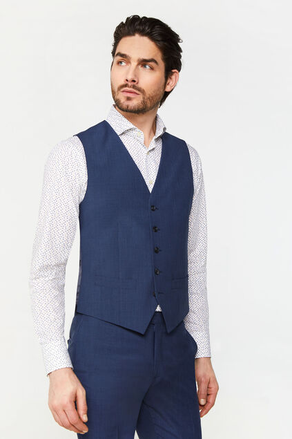 Heren slim fit gilet Amadeo All-over print