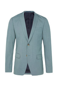 Heren regular fit blazer Dali met stretch_Heren regular fit blazer Dali met stretch, Grijsgroen