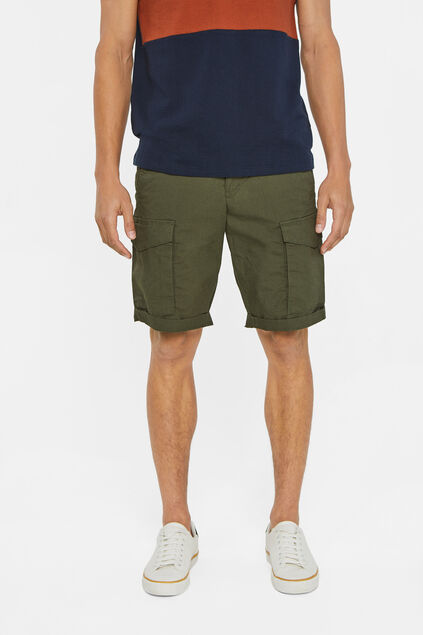 Heren cargo short Legergroen