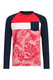 Jongens T-shirt met colourblock, All-over print