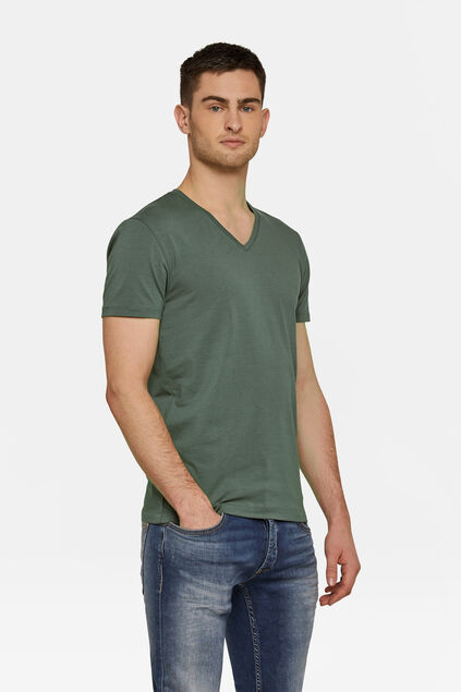 HEREN ORGANIC COTTON T-SHIRT Legergroen