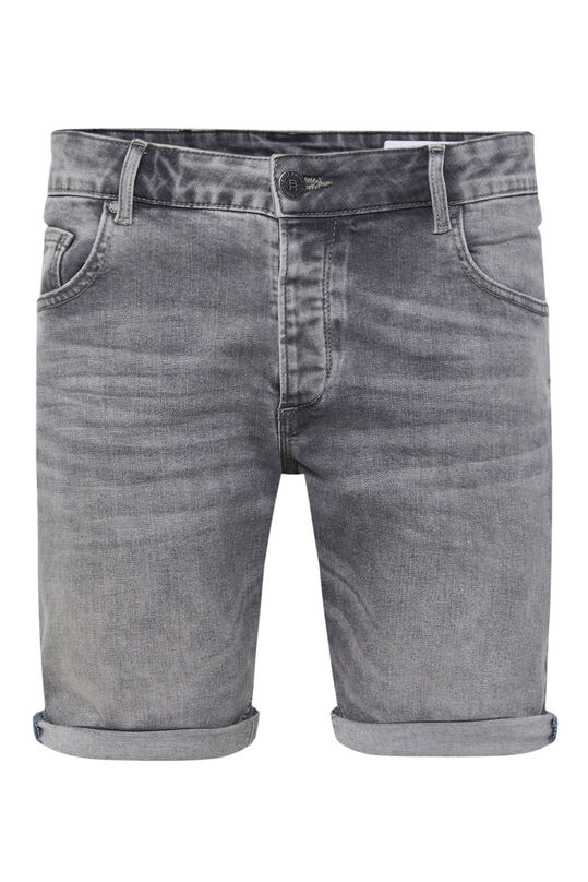 Heren regular fit denimshort Grijs
