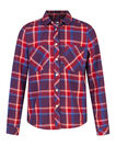 MEISJES CHECKED BLOUSE, Rood