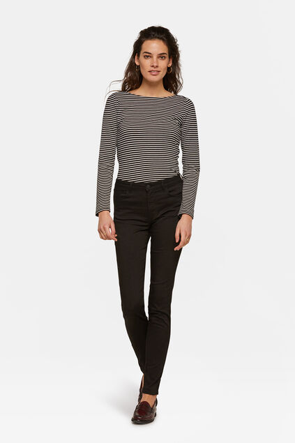DAMES MID RISE SKINNY HIGH STRETCH BROEK Zwart