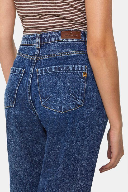 Dames high rise tapered jeans Donkerblauw