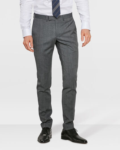 HEREN SLIM FIT PANTALON GREENOCK Donkergrijs gemeleerd