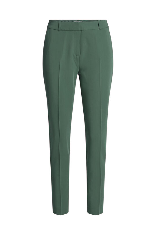 Dames regular fit pantalon met stretch Mosgroen