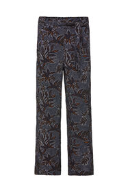 Dames high waist broek met dessin_Dames high waist broek met dessin, All-over print