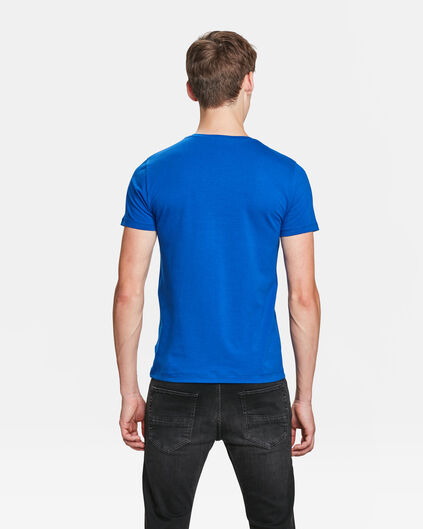 HEREN ORGANIC COTTON T-SHIRT Kobaltblauw