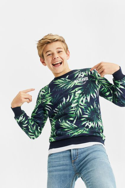 Jongens sweater met jungledessin All-over print