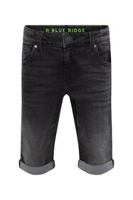 Jongens regular fit denimshort_Jongens regular fit denimshort, Zwart