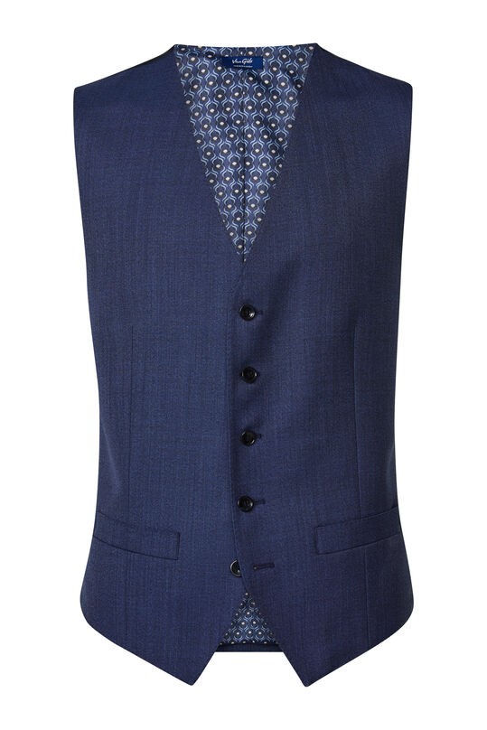 Heren slim fit gilet Matera Marineblauw