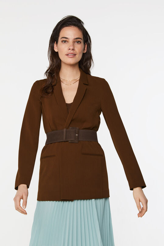 Dames regular fit blazer Cognac