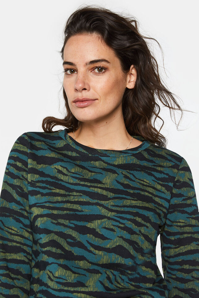 Dames sweater met tijgerdessin All-over print