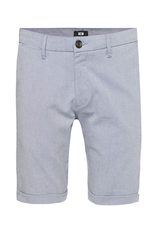 Heren slim fit chinoshort met stretch Donkerblauw