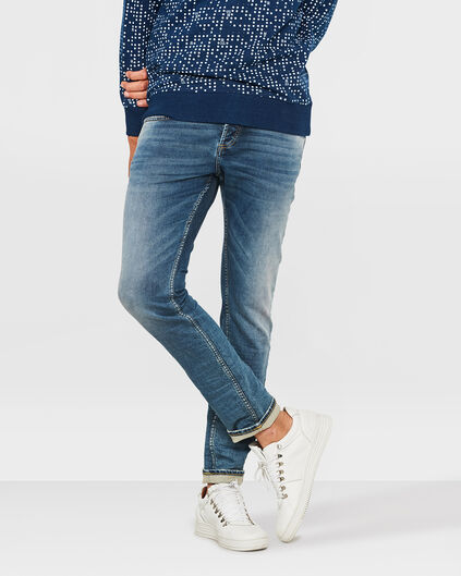 HEREN SLIM TAPERED JOG DENIM Marineblauw