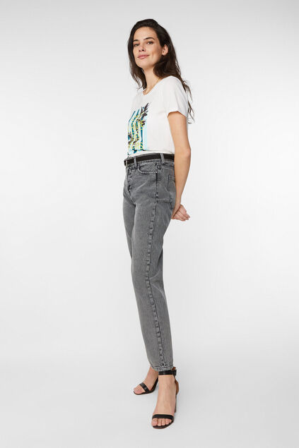 Dames high rise jeans Grijs