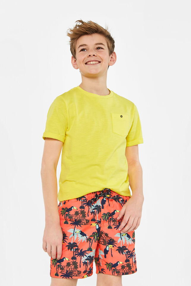 Jongens zwemshort van gerecycled materiaal All-over print