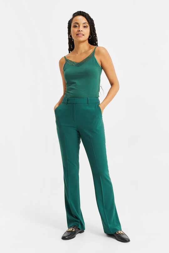 Dames flared pantalon Groen
