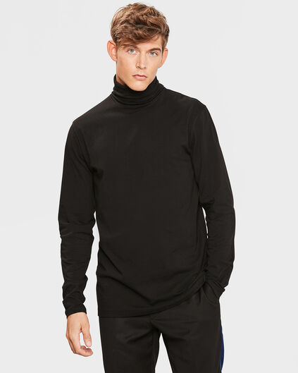 HEREN TYPHOON ROLL NECK SHIRT Zwart