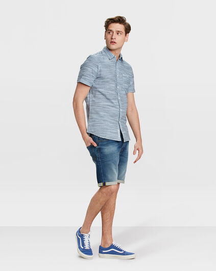 HEREN REGULAR STRAIGHT JOG DENIM SHORT Blauw