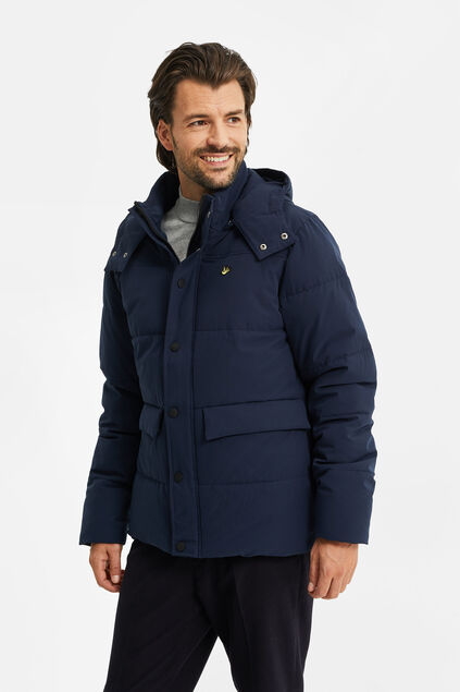Heren pufferjacket Marineblauw