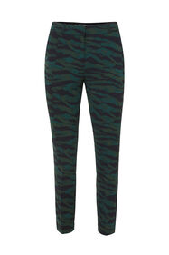 Dames slim fit pantalon met dessin_Dames slim fit pantalon met dessin, All-over print