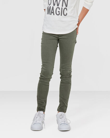 MEISJES SUPER SKINNY POWER STRETCH JEGGING Legergroen