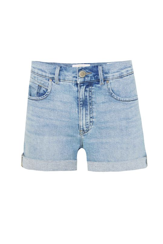 Dames high waist short met mom fit Lichtblauw