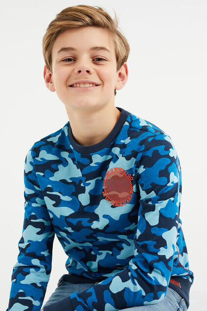 Jongens T-shirt met camouflagedessin All-over print