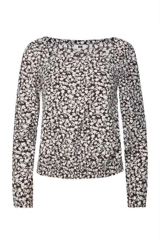 Dames blouse met smokwerk All-over print