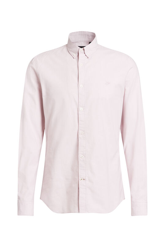 Heren slim fit stretch oxford overhemd Lichtroze