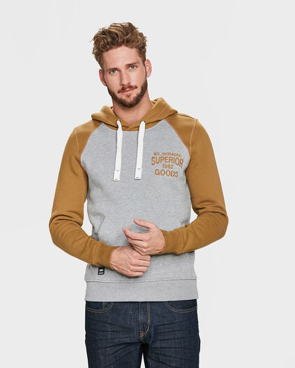 HEREN HOODED SWEATER Grijs