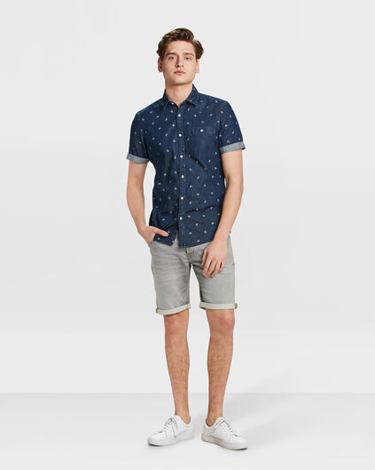 HEREN REGULAR STRAIGHT JOG DENIM SHORT Grijs