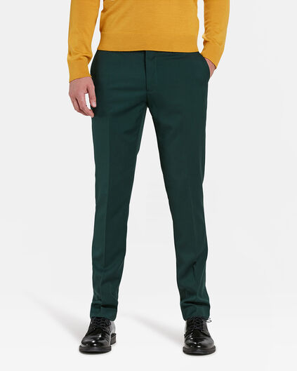 HEREN SLIM FIT PANTALON DALI Donkergroen
