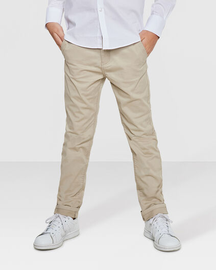 JONGENS SLIM FIT GARMENT DYE CHINO Beige