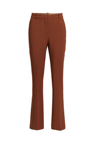 Dames high waist flared pantalon_Dames high waist flared pantalon, Cognac
