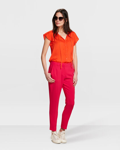 DAMES SLIM FIT PANTALON Fuchsia