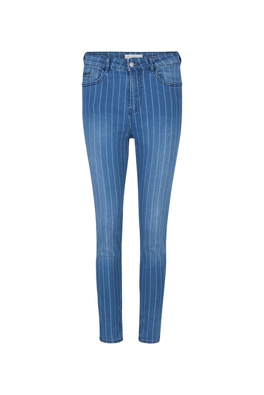Dames high rise skinny cropped jeans Blauw