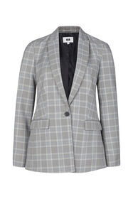Dames regular fit blazer_Dames regular fit blazer, Lichtgrijs gemeleerd