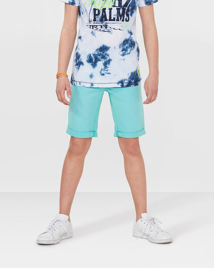 JONGENS REGULAR FIT GARMENT DYE SHORT Mintgroen