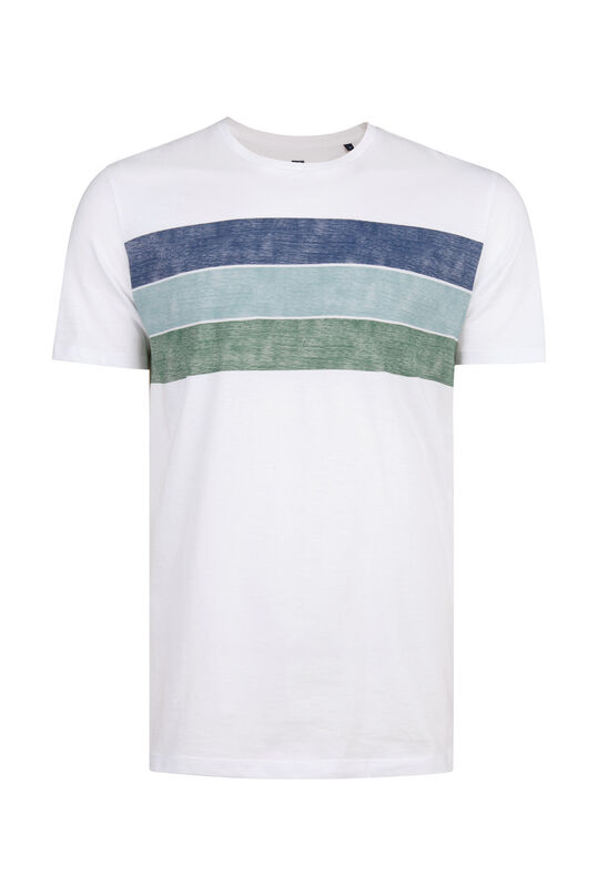Heren colourblocking T-shirt Wit