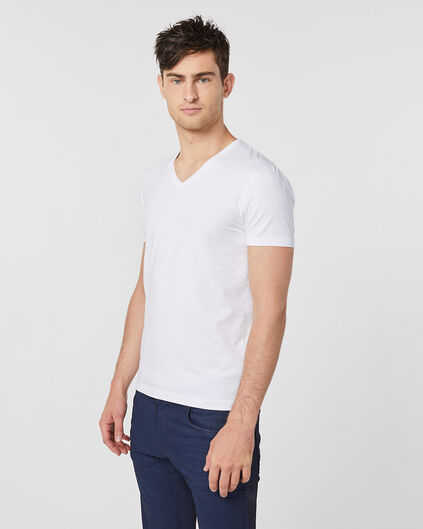 HEREN V-NECK T-SHIRT Wit