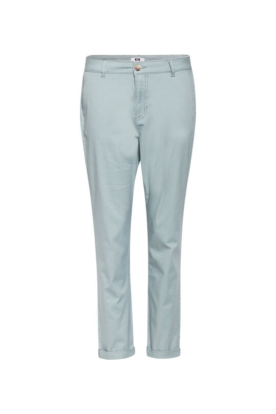 Dames Regular fit chino Grijsgroen