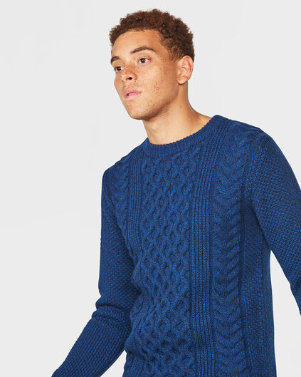 HEREN BLUE RIDGE KNIT PATTERN  TRUI Kobaltblauw