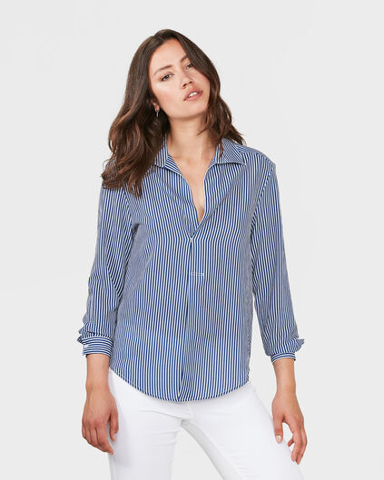 DAMES STRIPED BLOUSE Blauw