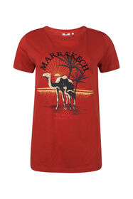 Dames Marrakech dessin T-shirt_Dames Marrakech dessin T-shirt, Rood
