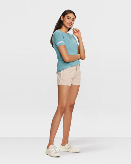 DAMES RELAXED FIT CHINO SHORT Lichtroze