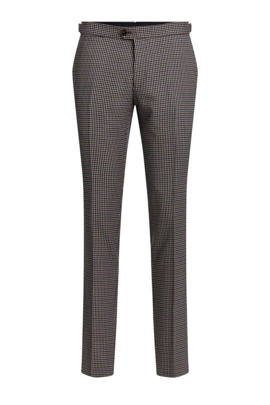 Heren slim fit geruite pantalon, Christoph All-over print